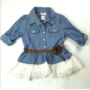 LITTLE LASS BUTTON DOWN SHIRT DRESS